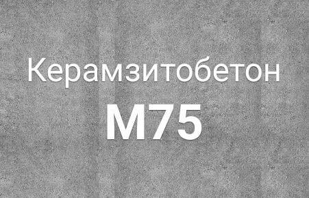 Керамзитобетон БСЛ В 5 М 75